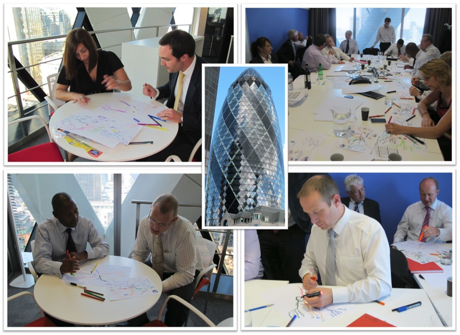 Mind Mapping workshop at the Gherkin, London 14.09.11